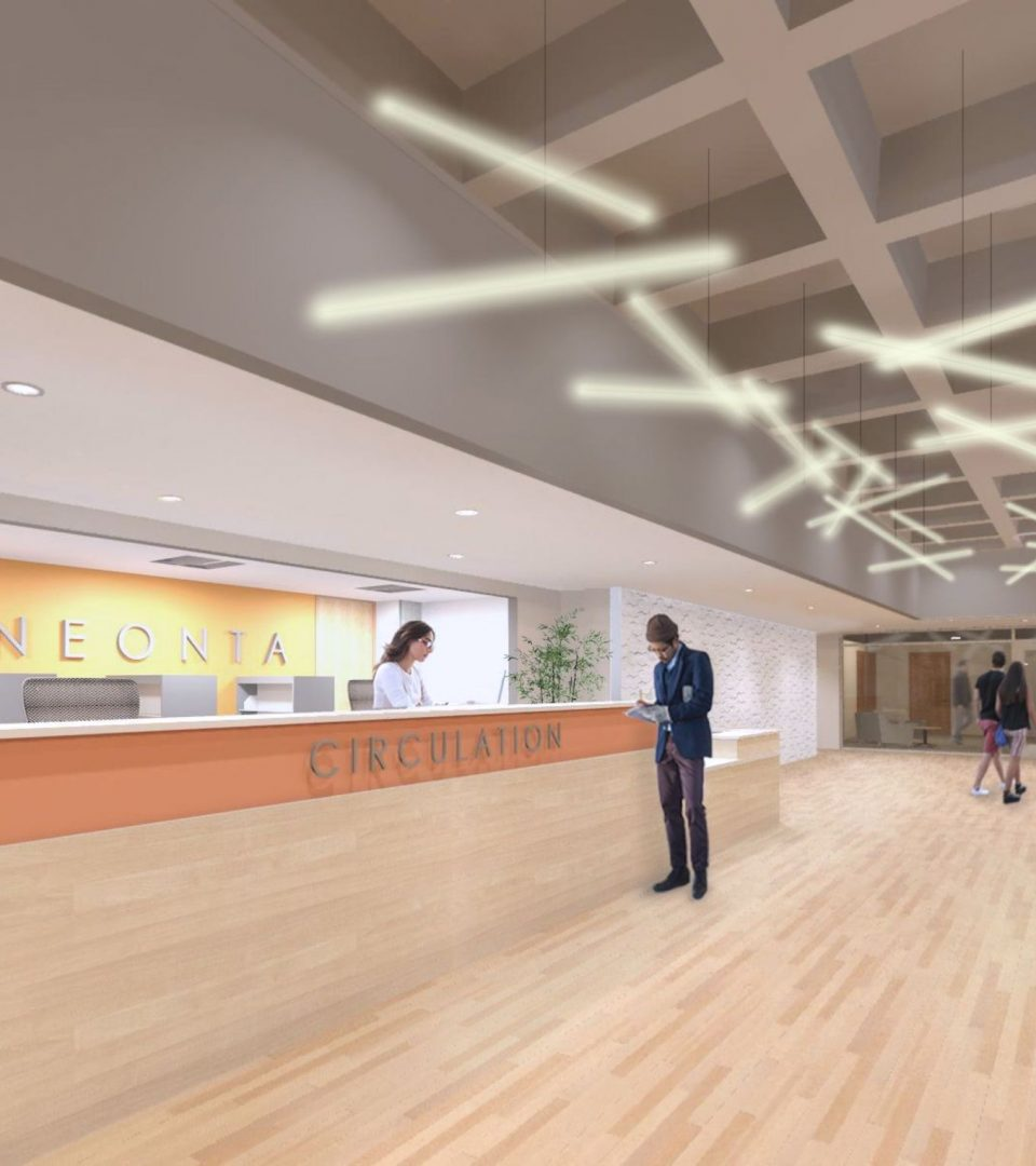 Milne Library Interior Rendering