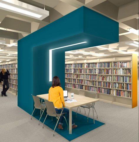 Milne Library Render