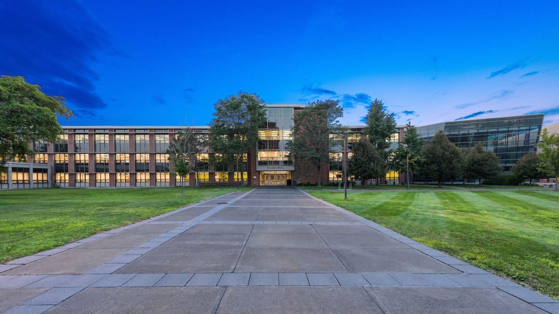 Binghamton Student Wing Exterior 1
