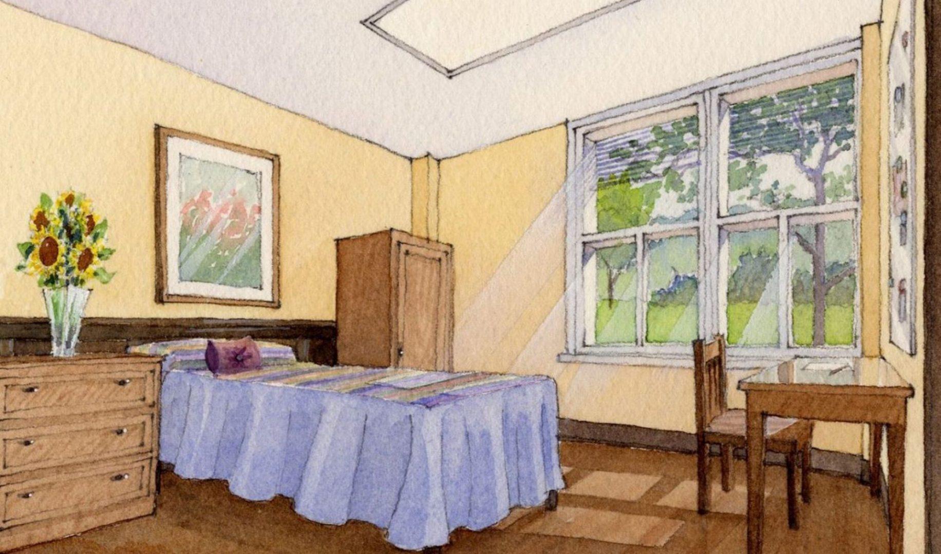 Indiana Bedroom Rendering
