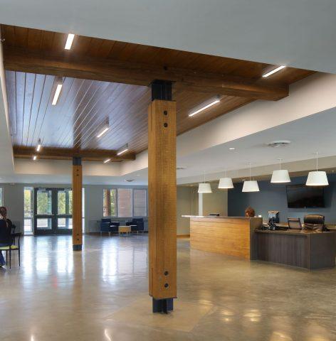 bollback student life center reception area